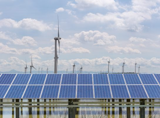 photovoltaic power station and wind farm