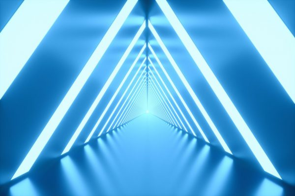 3d-illustration-tunnel-with-bright-lights-on-the-l-D2L2E6Y